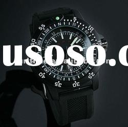2012 New Swiss Design Mens Black Military Functional Bezel ,High Quality