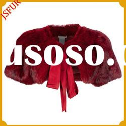 2012 New fashion women's Red rabbit fur cape for evening dress