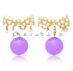 2012 latest fashion gold crystal girls earring