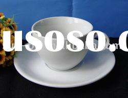 220 CC high white mini porcelain cup and saucer