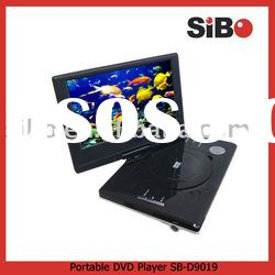 9 inch divx portable dvd player with tv, usb and card reader