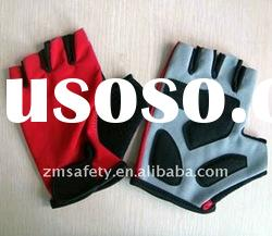 Anti-vibration Synthetic Leather Fingerless Fitness Sport Glove