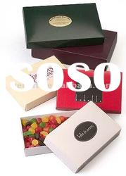 Black, white, red Paper Chocolate window candy boxes with window --GB-74