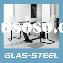 Compact Rectangular Glass Table, Tempered Glass Top Dining Table WC-BT217