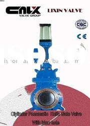 Cylinder Actuator Knife Gate Valve With Blow Hole