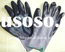 Durable 13 Guage Nylon & Nitrile Coated Working Safety Gloves