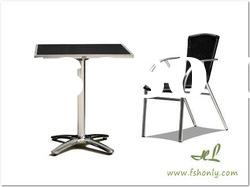 Fold down aluminium table or beach folding table