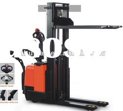 Full Power Electric stacker with 1-2Tons lifting capability and 2-4.5m high lifting height