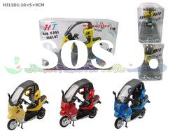 HJ11D1 Hot sell Die-cast Metal Motorcycle(Plastic base,with Music&Light,Battery Included)