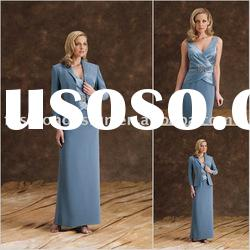 HLM00186 Stylish satin long sleeve floor length mother of bride dress