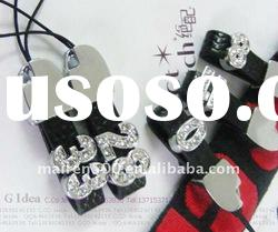 Mobile phone slide charms free shipping