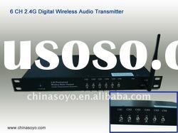 Multi-channel long distance digital wireless transmitter