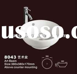 Restaurant Bathroom sinks without tap hole 8043