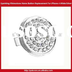 Sparkling Home Button Replacement For iPhone 4-Gold/Silver