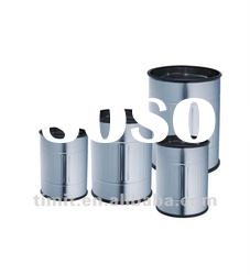 Superior Quality Stainless Steel Round Shape with Cover Dustbin
