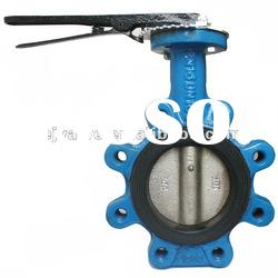 Wafer Type Iron Handle Lug Type Butterfly Valve