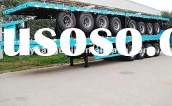 carbon steel tri axle flatbed truck trailer (size optional)