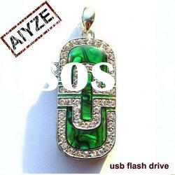 cheap free shipping shell shape jewelry usb flash driver(paypal)