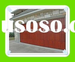 cheap large auto solid wood sectional garage doors design