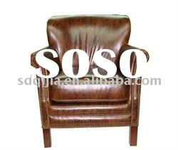 china living room antique furniture leather chair