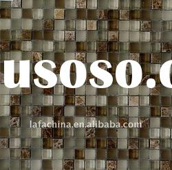 crystal glass mosaic mixed stone with factory price(300x300mm)