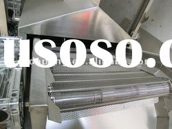 frying food processing line, gas/diesel oil/ electricity heating continuous belt fryer