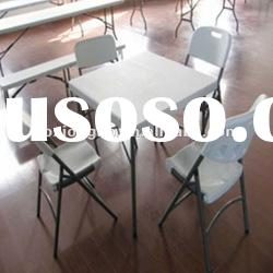 hdpe plastic table,88cm plastic portable folding dinning table(white,hdpe,blow mold)