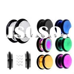 hot sale items fake ear plug surgical steel body stud piercing jewelry