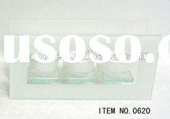 hot sell fashion white glass candle holders