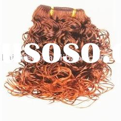 human hair weaving/weft/weave/wig/cheap curl human hair extension