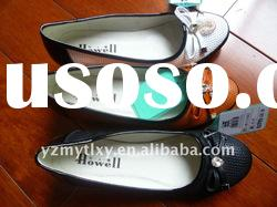 lady new design genuine leather wedge casual shoes