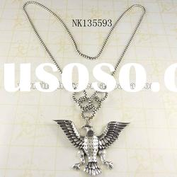 latest design fashion jewelry silver plated owl pendant necklace