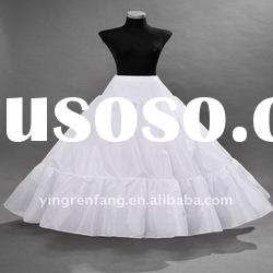 newest modern gorgeous elegant white two loops wedding petticoat PC-021
