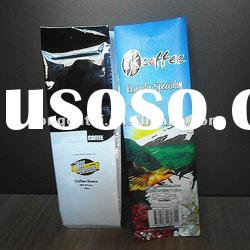 side gusset stand up printed aluminum foil coffee bag