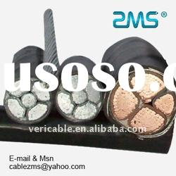 steel tape armored power cables with copper or aluminum conductor