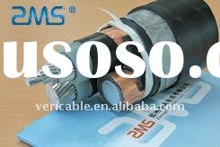 steel tape armored underground power cable with aluminum conductor XLPE insulation