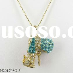 valentine's day cute crystal dog pendant necklace fashion jewelry style 3