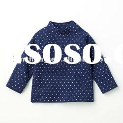 100%cotton long sleeve cute and fashion baby top