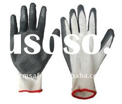 13 Guage Polyester Nitrile Coated Working Safety Gloves