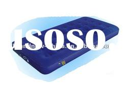 188x99x12cm One Person Inflatable Flocked Air Bed,With Build-In Pump,