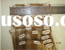 2011 hot sale remy human hair clip in extensions
