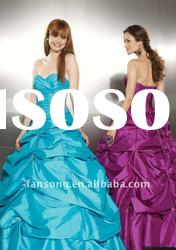 2011new arrival sweetheart neckline ball gown taffeta prom gown