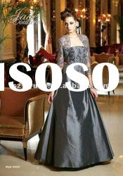 2012 Elegant &beautiful jacket beaded Mother of the bride Long Dresses/Gown