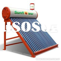 2012 High Quality Compact Heat Pipe Solar Energy Water Heater System with Supplier Tank