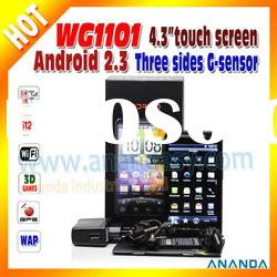 2012 Newest 3G WiFi Dual SIM Android Phone WG1101 4.3 Capacitive Touch Screen