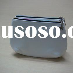 2012 hot sale designer high quality two zipper cosmetic bags