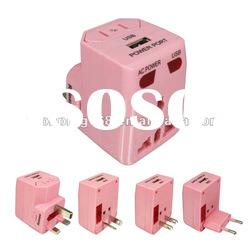 2012 hot sale worldwide usb travel adapter with CE,ROHS,FCC certificate