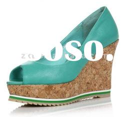 2012 ladies candy color peep toe wedge shoes /2012 new shoes XT-SF268