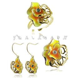 2012 trendy sterling silver gold earring designs