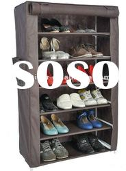 6-Tier Multifunctional Metal and Plastic shoe rack with covers